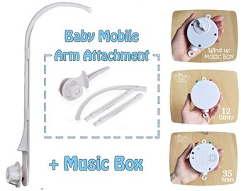 Baby mobile Arm attachment Crib Add-on DIY crib mobile Hanging baby mobile  Arm clamp Crib attachment Baby mobile bracket