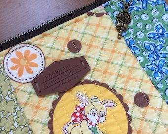 Zipper pouch/ iPad cover/ iPad case/ gadget case with Atsuko Matsuyama's fabric collections