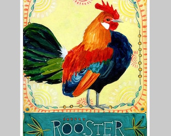 Animal Totem Print - Rooster