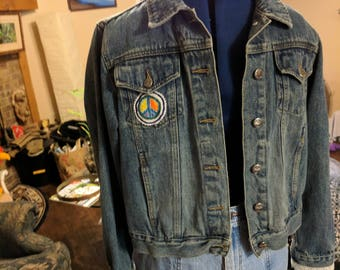 Custom decorated Jean Jacket