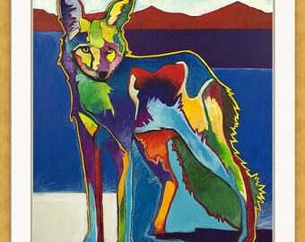 Plains Coyote, Giclée Print
