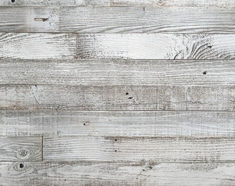 """Whitewash Barn Wood 3"""" Wide Planks - 10 Square Feet / Yes- Peel and Stick Adhesive"""
