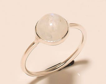 Moonstone Ring, Stone Ring, Moonstone Silver Ring, Silver Ring, Rainbow Ring, Sterling Silver Ring, Moonstone,Size US 3 4 5 6 7 8 9 10 11 12
