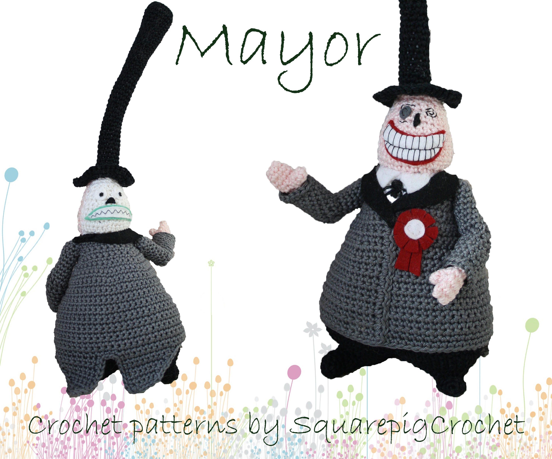 Crochet pattern Mayor The Nightmare before Christmas