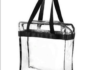 Zippered Clear Stadium Bag/Monogrammed Clear Game Day Bag/Game Day stadium bag