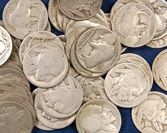 40 Buffalo Nickels, Dateless, 1 Roll
