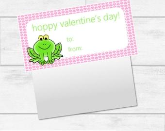 Valentine's Day Frog Bag Topper Printables INSTANT DOWNLOAD