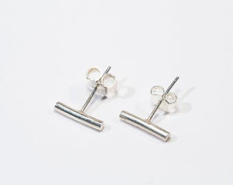 Bar earrings | Minimalist | Sterling silver | Geometric earrings | Dainty earrings | Simple earrings
