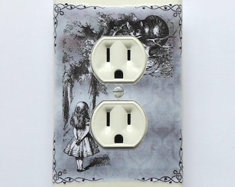 Series of Outlet covers & MATCHING SCREWS- Alice in Wonderland bedroom Alice in Wonderland bathroom Alice outlet cover plates matching sets