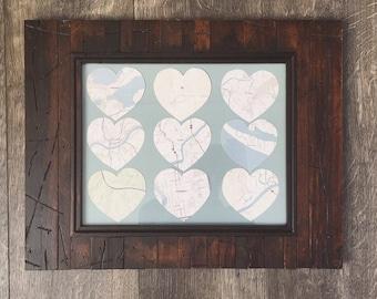 Favorite Places Custom Gift Artwork