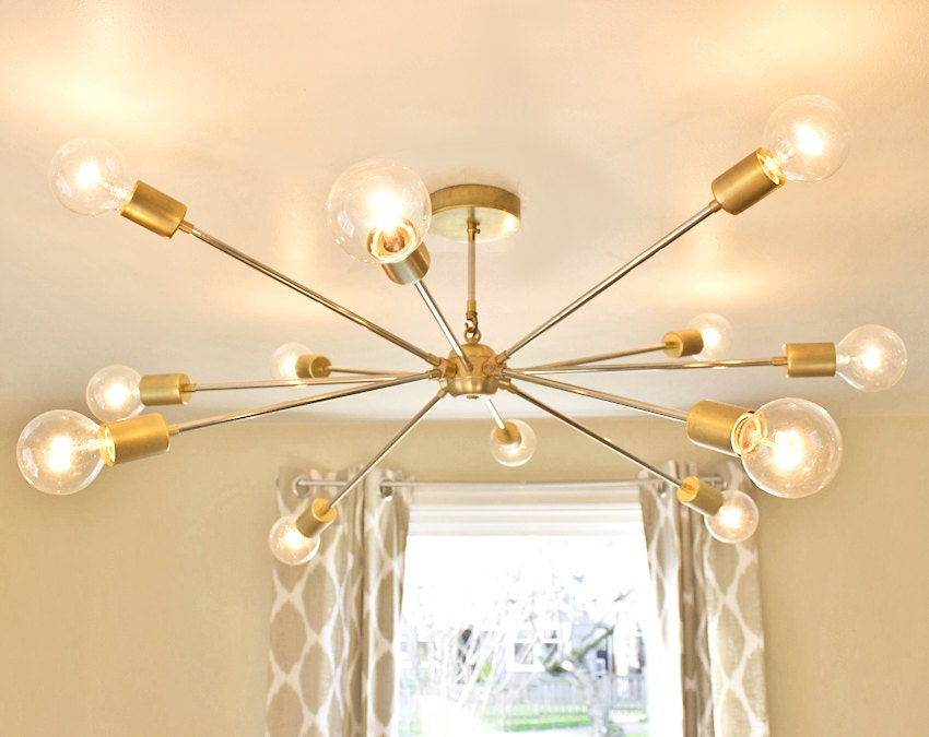 Free shipping the shepard modern brass sputnik chandelier the shepard modern brass sputnik chandelier mozeypictures Image collections