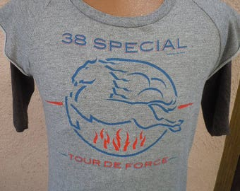 Size M (44) ** Ultra Rare 1983 38 Special Tour Sweatshirt / Shirt (Double Sided)