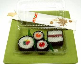 Sushi Art Sushi Gift Ideas Handmade Beeswax Japanese Candles Assorted 4 Piece Japanese Home Decor Hostess Gift