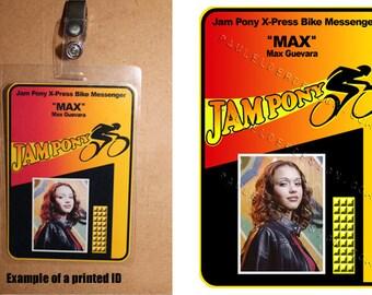 Dark Angel Max Jam Pony ID Badges Digital Download
