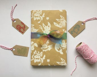 Pokemon Inspired Eeveelutions Print Wrapping Paper