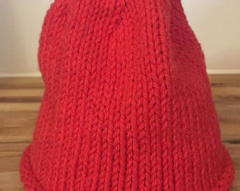 Little Hats, Big Hearts: Cotton Knit Red Baby Hat