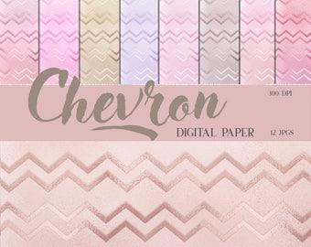 pastel chevron paper, Chevron, Digital papers, chevron pastel, chevron backgrounds, chevron paper pack, digital paper