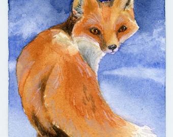 Fox, original ACEO