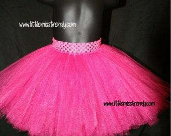 Hot Pink Tutu Skirts, Children's Tutu Skirts, Pink Newborn to 6T Tutus, Pink Tutu