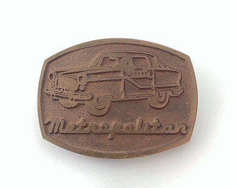 Vintage Brass Metropolitan Automobile Belt Buckle