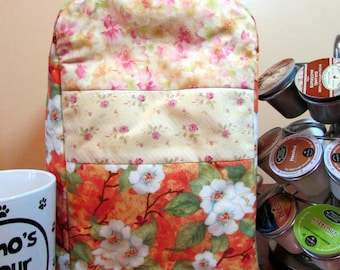 Orange Creamsicle/pale yellow Keurig Cover-fits Personal size-great gift for coffee, tea, hot cocoa lover