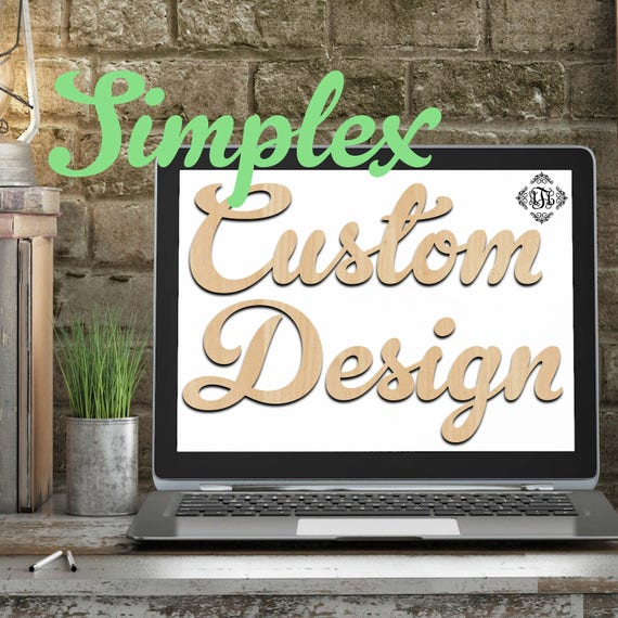 Custom Design Wood Art Simplex, 2 Features, Wedding, Nursery, College, Personalized, Sign, Birthday, laser cut shape, wood cut out