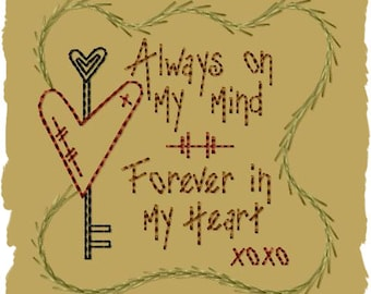 Always On My Mind-Version 2--4x4--INSTANT DOWNLOAD