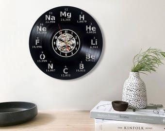 Chemistry art, Vinyl record wall clock, Scientist gift, Science art, Chemist gift, Gift for teacher, Perfect chemistry, Love chemistry,