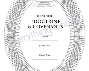 Doctrine and Covenants - PDF File/Printable