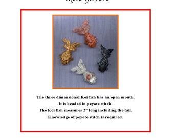 Three Dimensional Beaded Peyote Koi Fish Instructions PDF file