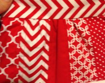 Rode en witte geplooide koppeling Perfect voor de zomer!