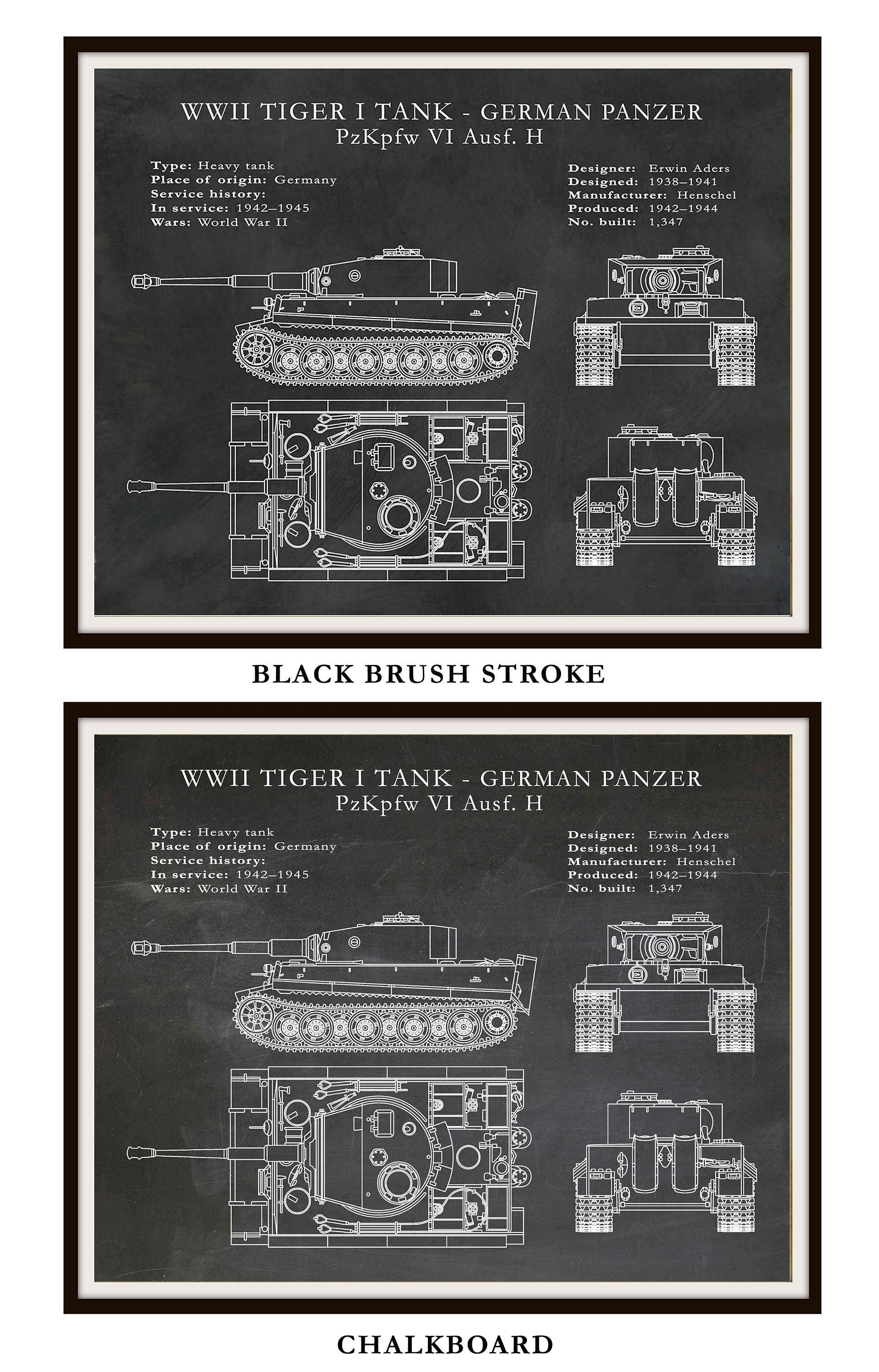 1942 German Panzer Tiger I Tank - German Nazi Army Tank - WWII Military Tank Blueprint - Soldier Wall Art - WWII Collector Print  sc 1 st  Blue Moon Patent Prints u0026 Drawings & 1942 German Panzer Tiger I Tank - German Nazi Army Tank - WWII ...