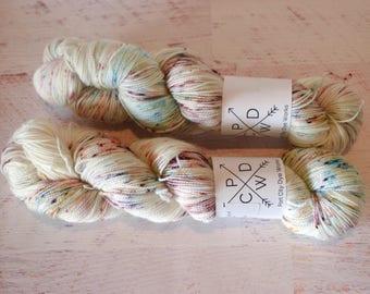 Queen for the Night - Alabama Sock 80/20 Superwash Merino/Nylon - hand dyed yarn - Ready to ship