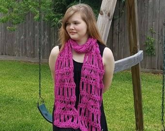 Diamond Bars Scarf Crochet Pattern