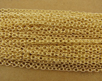 Gold Fill 1.8mm Textured Cable Chain By The Foot - Bulk Gold Fill Chain - btfgftc