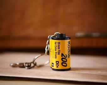 Film Canister Key Chain. Kodak 200 35mm film. Photographer gift.