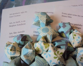 Artful Origami Wishing Stars