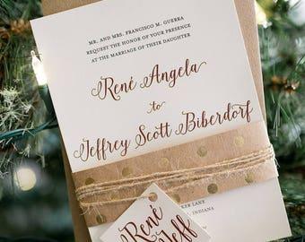 Wedding Invitation   Printable, Wedding Invitation Suite, Calligraphy Wedding, Script, Modern, Rustic Wedding, DIY Wedding Invitation