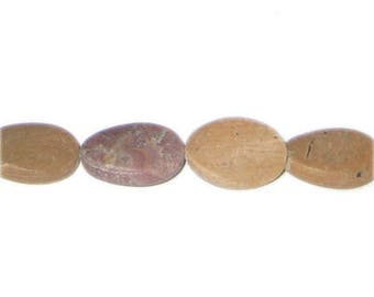"20 x 12mm Jasper Gemstone Bead, 15"" string"