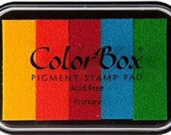 Colorbox Ink Stamp Pad  Rainbow Multi-Color Primary Pigment ink