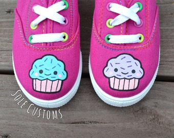 CLEARANCE! Custom Shoes - Toddler/Kids Cupcake Shoes