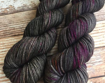 Delia - Twilight - Hand Dyed Yarn - 100% SuperWash Merino, Worsted Weight