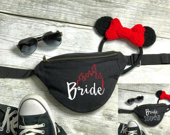Fanny Pack | Hip Bag | Disney Bride Fanny Pack | Disney Castle | Disney Fanny Pack | Belt Bag | Canvas Fanny Pack | Disney Travel Bag