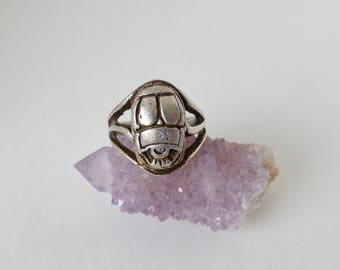 1960's Sterling Silver Scarab/Bug Ring