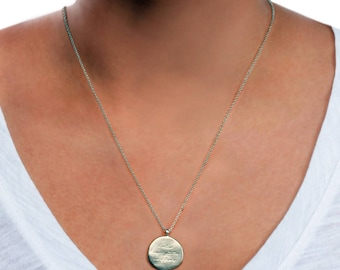 Engraved necklace etsy engraved necklace for women engraved pendant in gold engraved disc engrave on necklace personalized pendant engravable pendant aloadofball Choice Image