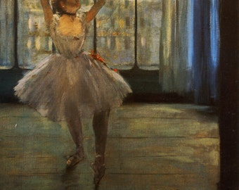 Dancer In Front Of A Window by Edgar Degas, in various sizes, Giclee Print on Canvas