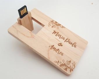 Personalized USB Drive Wood, USB 16 GB 2.0, Custom usb Drive, Personalized Flash Drive, Wood Flash Drive, custom gift, customized