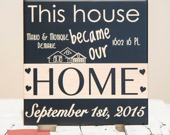 New Home Sign - New Home Housewarming Gift - Personalized Christmas Gift - New Home Decor - New Home Gifts - Personalized Home Sign