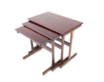 Danish Rosewood Nesting or Stacking Tables. Free Shipping