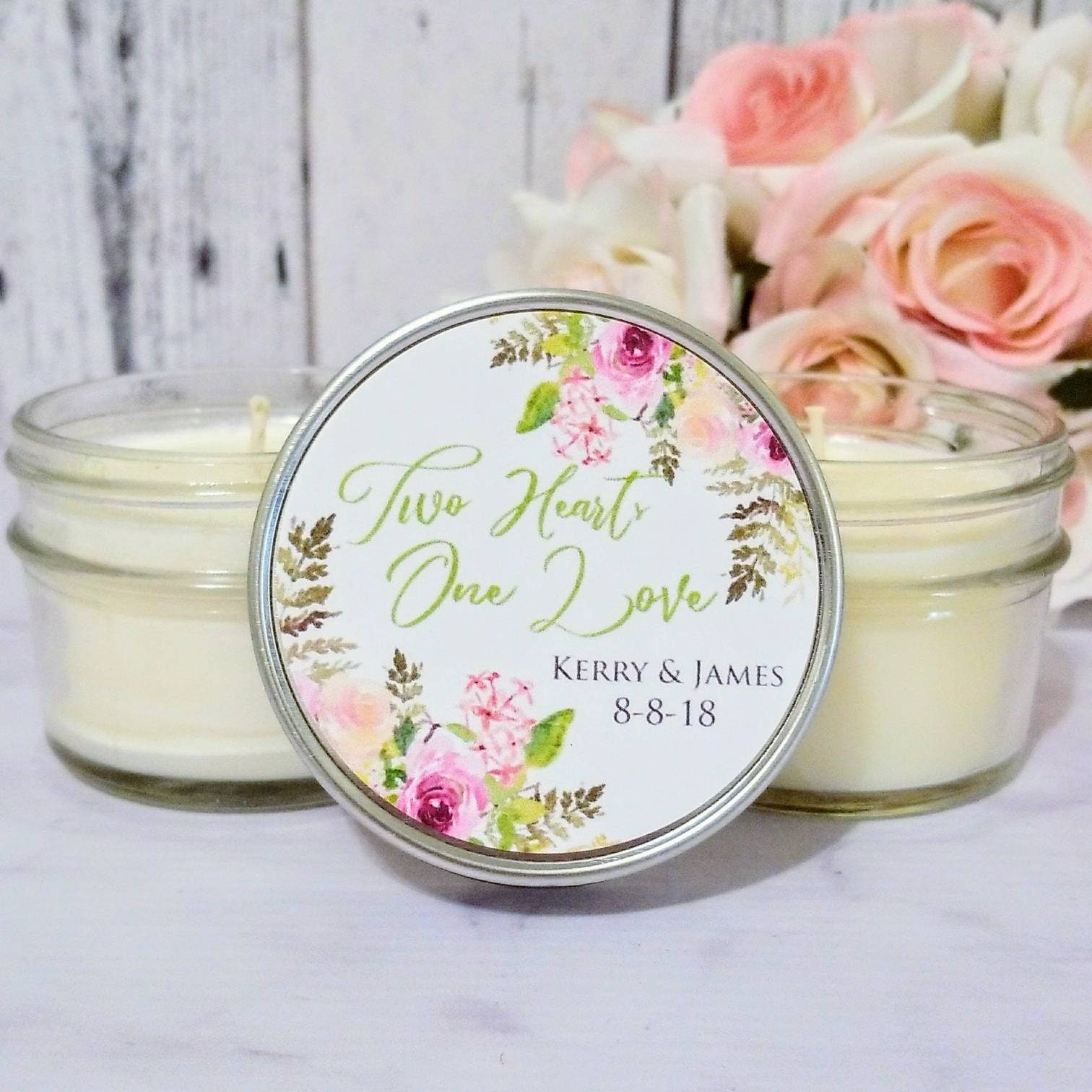 Floral Wedding Favors - Wedding Favors Candles - Floral Favors ...